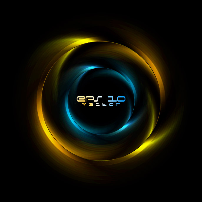 free vector Brilliant halo background 01 vector