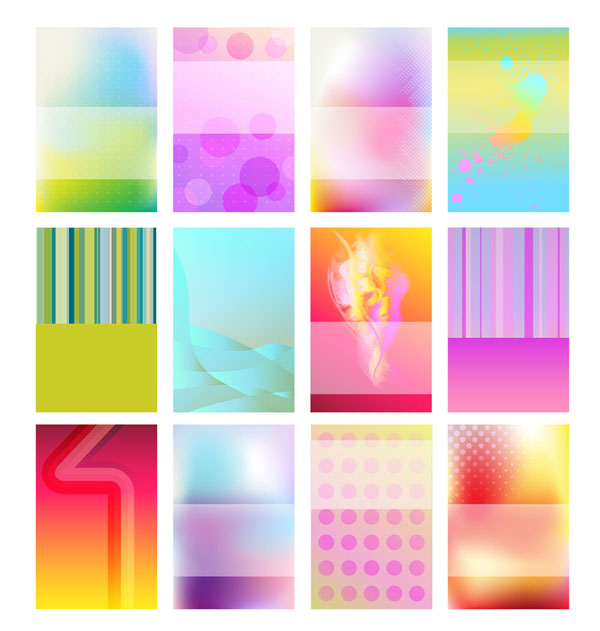 free vector Brilliant halo card background 01 vector