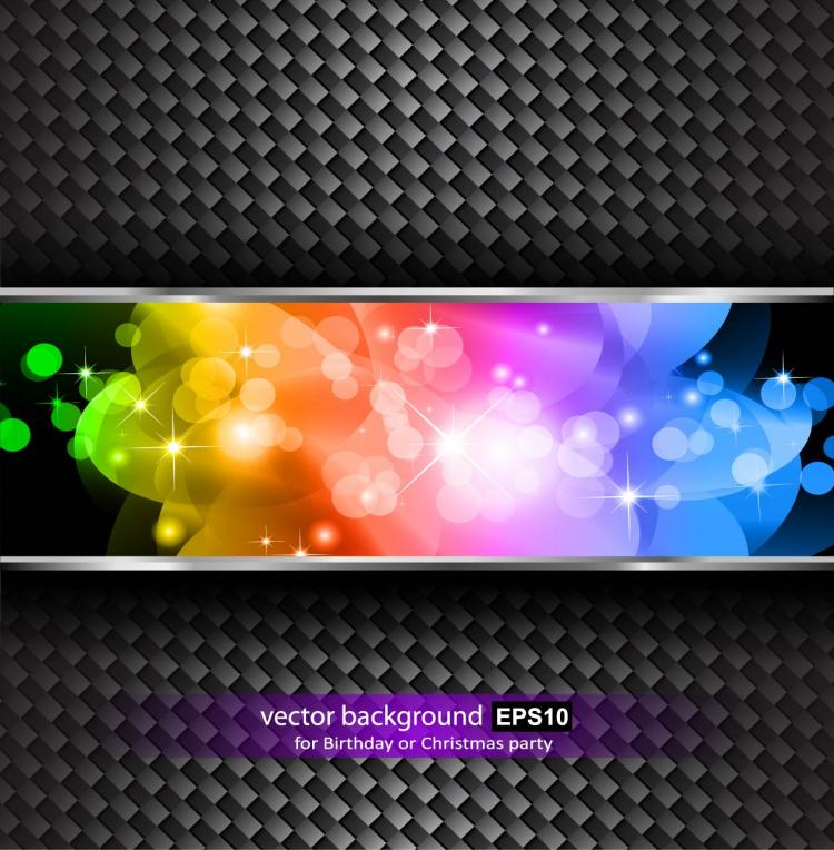 free vector Brilliant halo stars background 01 vector