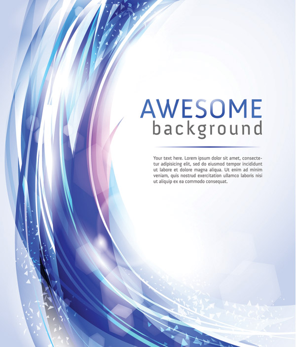 free vector Brilliant light vector dynamic background 4