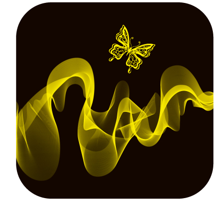 free vector Brilliant neon butterfly 03 vector