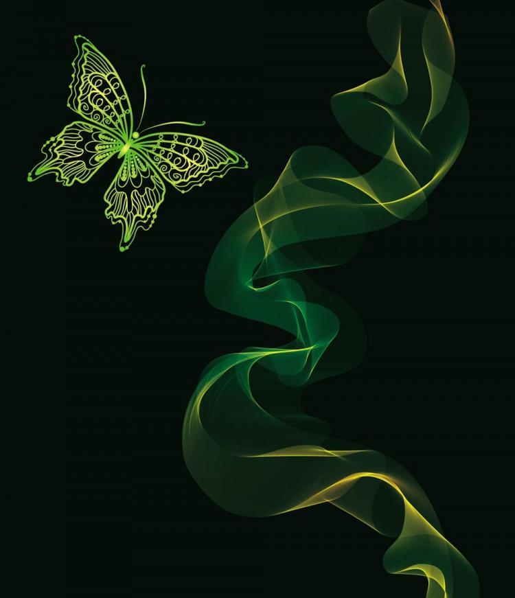 free vector Brilliant neon butterfly 04 vector