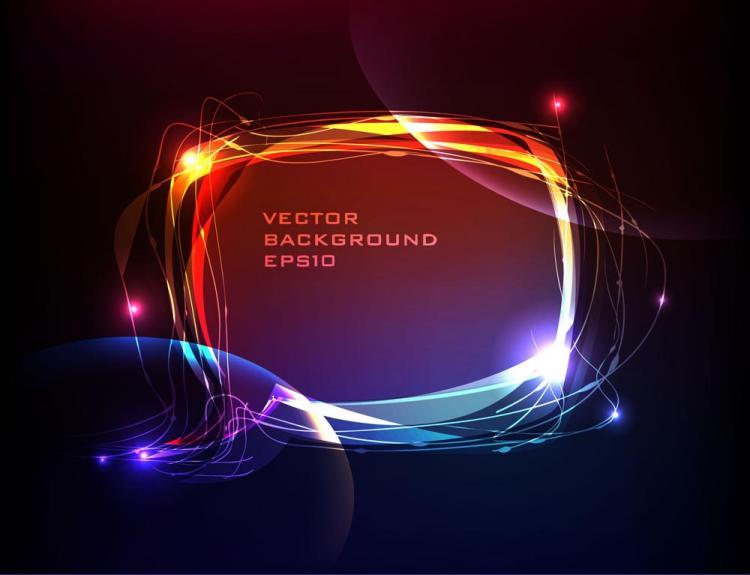 free vector Brilliant neon effects 01 vector