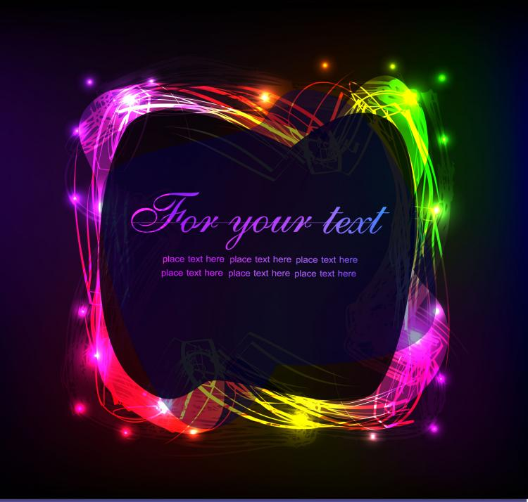 free vector Brilliant neon effects 03 vector