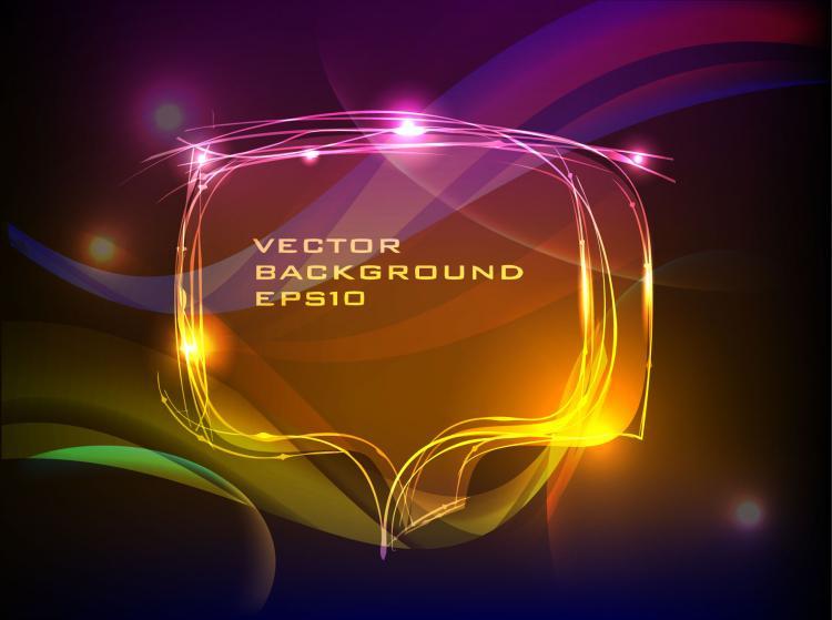 free vector Brilliant neon effects 04 vector 2568