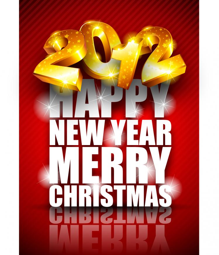 free vector Brilliant new year background 02 vector