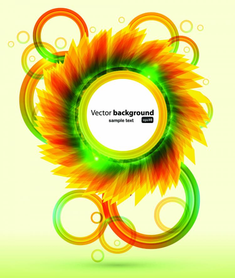 free vector Brilliant petals background 05 vector