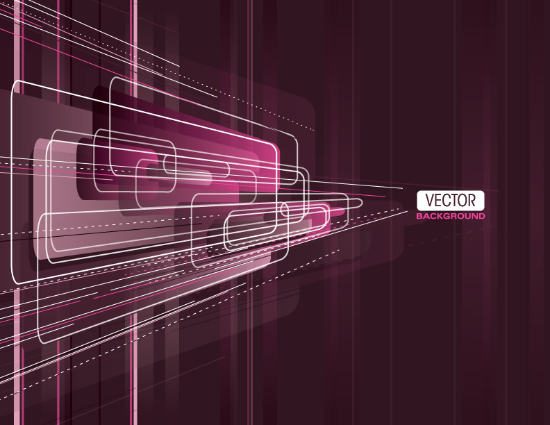 free vector Brilliant purple elements 04 vector