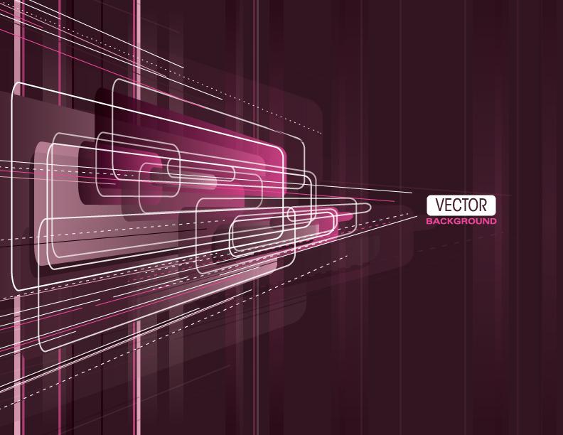 free vector Brilliant purple elements 04 vector