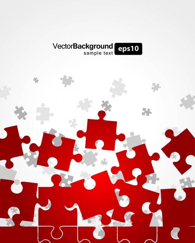 free vector Brilliant puzzle 04 vector
