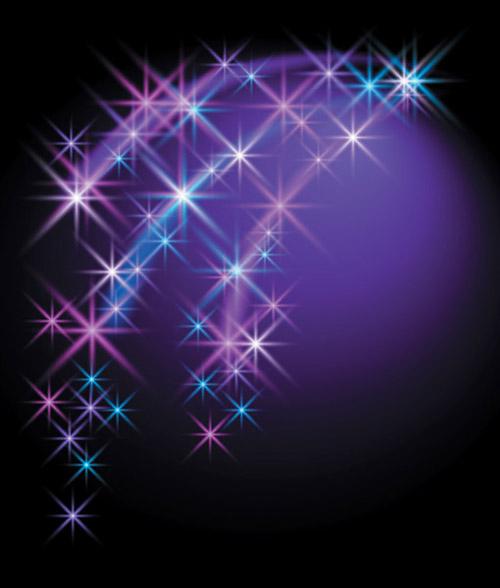 free vector Brilliant star background vector