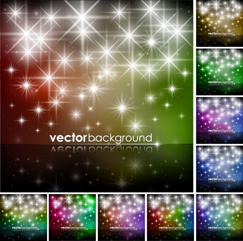 free vector Brilliant starlight background 02 vector