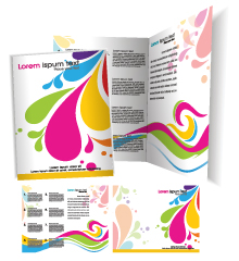free vector Brochure template vector