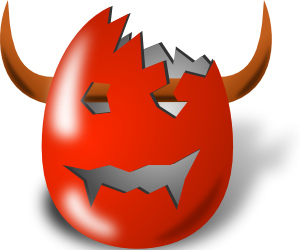 free vector Broken Wicked Easter Egg Shell clip art