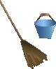 free vector Broom Bucket clip art