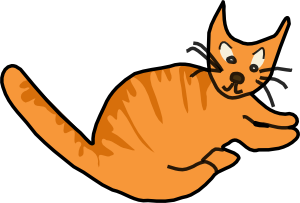 free vector Brown Cat clip art