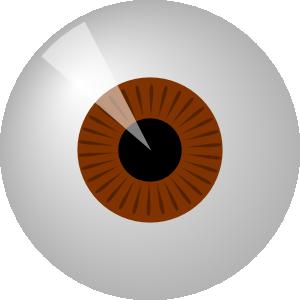 free vector Brown Eye clip art