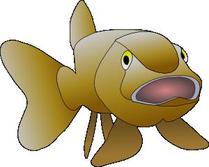 free vector Brown Fish clip art