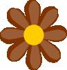 free vector Brown Flower clip art