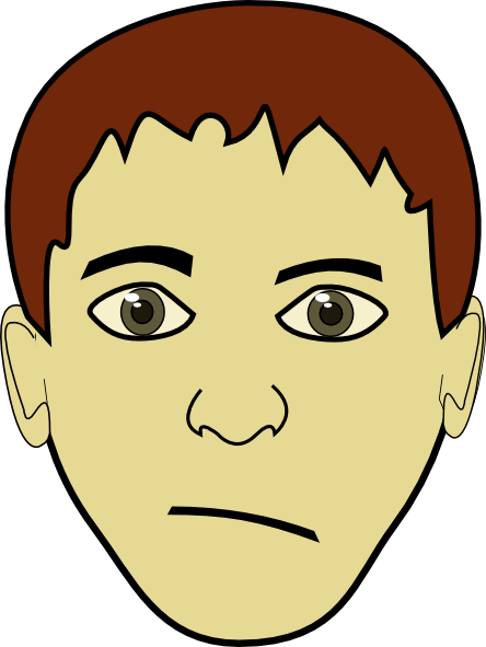 free vector Brown Hair Boy Face clip art