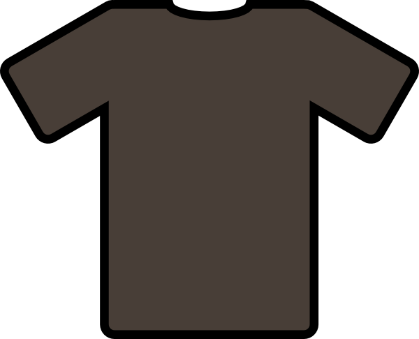 free vector Brown T Shirt clip art