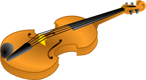 free vector Brown Violin clip art