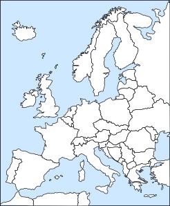 free vector Bubba Europe Outline clip art