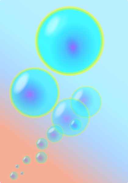free vector Bubbles  clip art