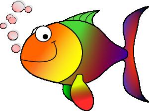 free vector Bubbling Cartoon Fish clip art