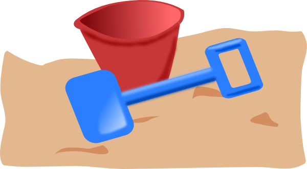 free vector Bucket And Spade clip art