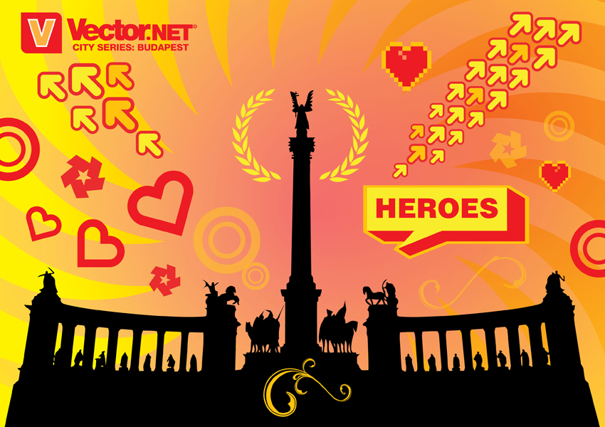 free vector Budapest Heroes Square Vector