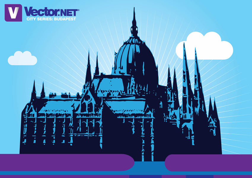 free vector Budapest Parliament Vector