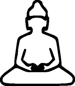 free vector Buddha Outline clip art