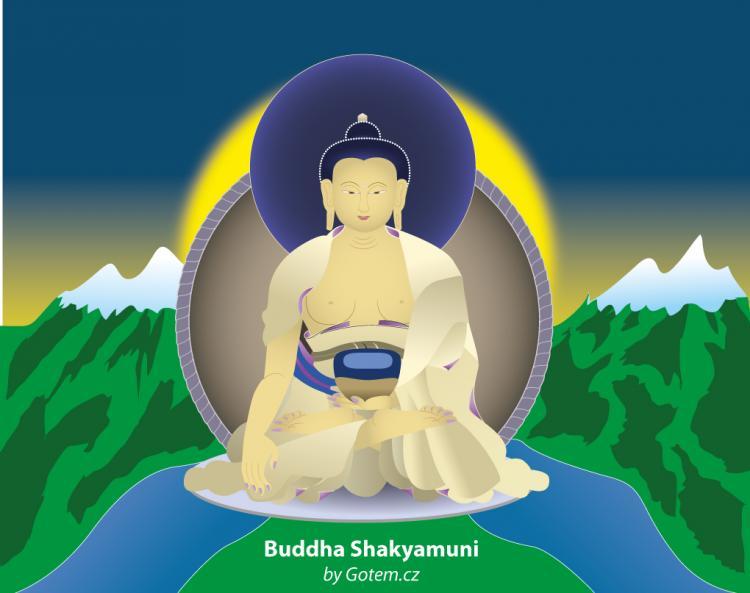 free vector Buddha Shakyamuni