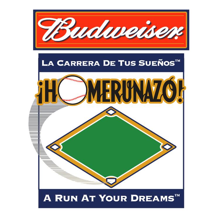 free vector Budweiser homerunazo