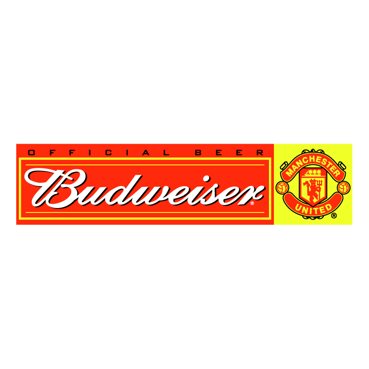 free vector Budweiser manchester united