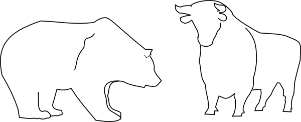 free vector Bull And Bear clip art