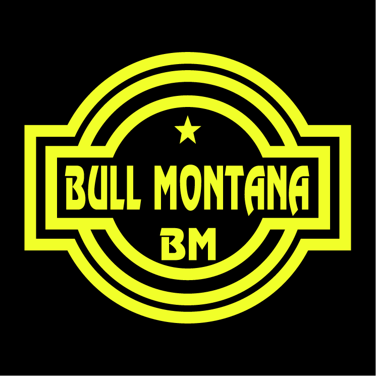 free vector Bull montana