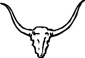 free vector Bull Skull clip art