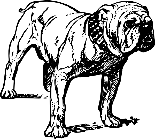 free vector Bulldog clip art