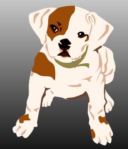 free vector Bulldog Puppy clip art