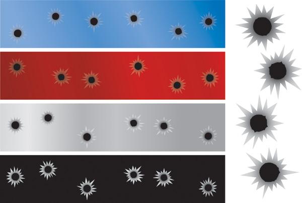 free vector Bullet hole vector