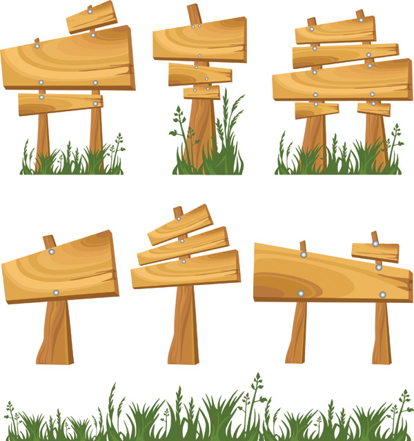 free vector Bulletin board signs vector