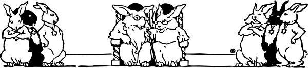 free vector Bunny Elders clip art
