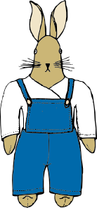 free vector Bunny In Overalls Front View clip art