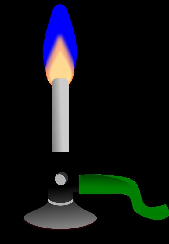 free vector Bunsen burner