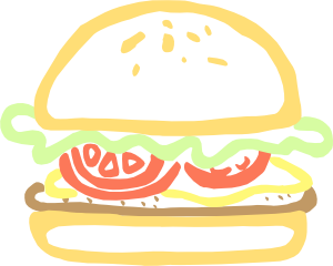 free vector Burger clip art 113015