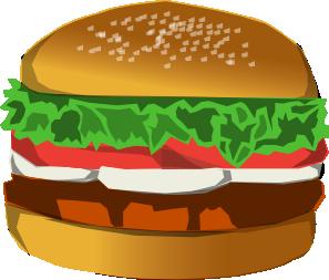 Burger clip art Free Vector / 4Vector