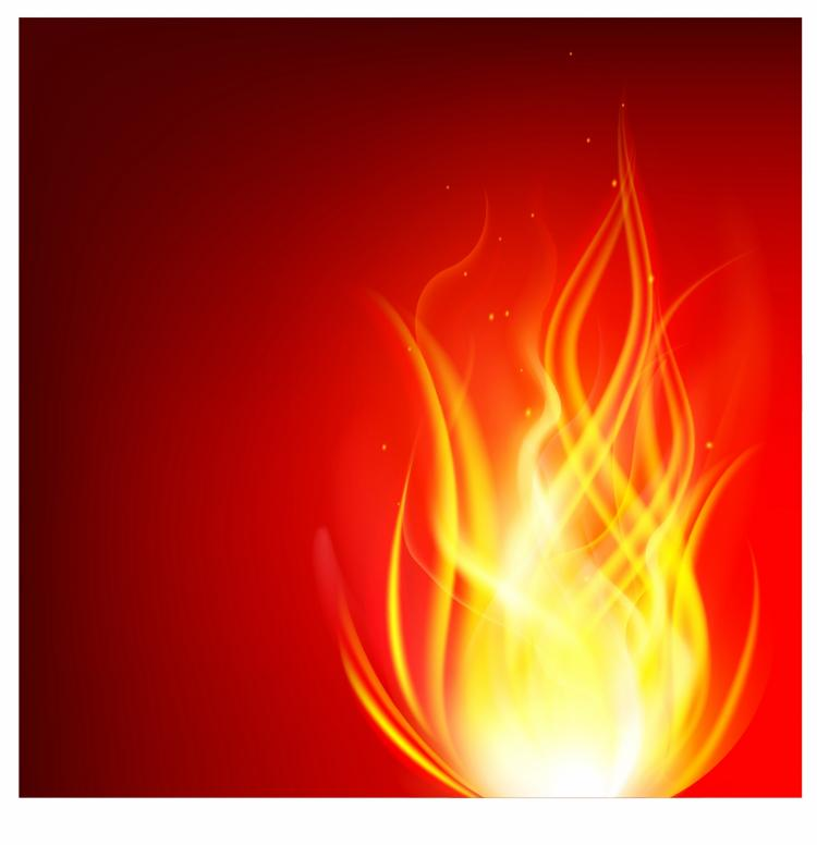 free vector Burn flame fire