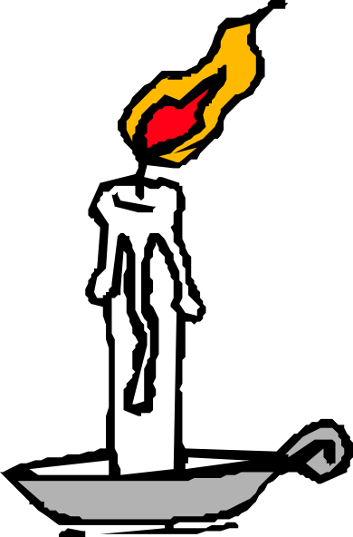 free vector Burning Candle clip art
